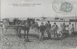 ENVIRONS DE LA ROCHELLE - ESNANDES - LE RETOUR DES BOUCHOLEURS - MAGNIFIQUE ANIMATION - 1907 - La Rochelle