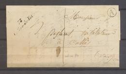 1851 Lettre En Local 1d Cursive 78 Callas-du-Var + BR A Claviers VAR Sup X3506 - 1849-1876: Klassik