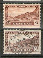 Variété_N° 115**/°_1 Brun_1 Brun-rouge - Senegal (1887-1944)