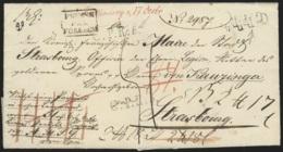 L De Falkenberg 1827 CPR4 Et 5 + PRUSSE/PAR / FORBACH + Diverses Bonifications Et Annotations Pour Strasbourg - ...-1849 Vorphilatelie