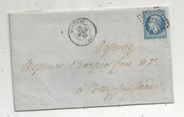 Lettre,1861 , MORTEAU , BELFORT A PARIS , Silvain Bobillier , Faux Et Sciages, Les Gras Près Morteau , Doubs - Postmark Collection (Covers)