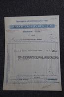 Facture Ancienne, HOMPS - Triturerie Et Raffinerie De Soufres , RASSIGUIER Père Et Fils. - France
