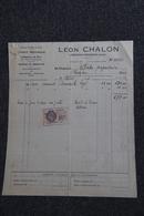 Facture Ancienne, LEZIGNAN CORBIERE - Aciérie Mécanique, Commerce De Bois, Léon CHALON - Agriculture