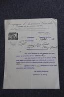 Facture Ancienne, CARCASSONNE - Compagnie D'Assurances Générales Contre Les Accidents Et Le Vol. - Bank & Insurance
