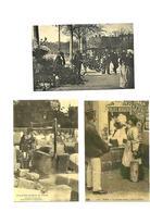 Carte Postale Paris Les Petits Métiers (75)  Repro 3 Cartes Marchand De Feuillage Scieurs De Pierres Colleuse D'affiches - Petits Métiers à Paris