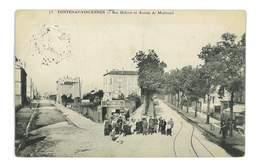 CPA 78 FONTENAY-VINCENNES RUE DIDEROT ET AVENUE DE MONTREUIL - France