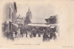 BE17- SAINT VALERY EN CAUX  EN SEINE MARITIME  LE MARCHE   CPA  PRECURSEUR - Saint Valery En Caux