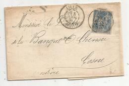 Lettre,1891 , LILLE , Nord, Facture H. Devilders & Cie , Banque - Storia Postale