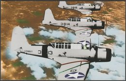 Vought SB2U-1 Vindicators In Flight - World War II Postcard - 1939-1945: 2nd War