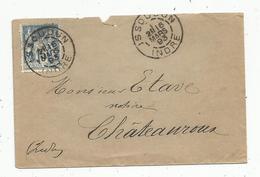 Lettre,1893 , ISSOUDUN , Indre - Storia Postale