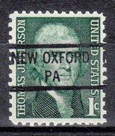 USA Precancel Vorausentwertung Preo, Locals Pennsylvania, New Oxford 841 - Vereinigte Staaten