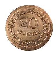 20 Centavos - Portugal - 1925 -  Bronze  - TB - - Portugal