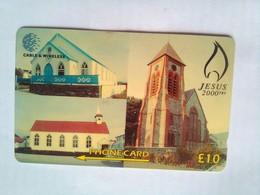 314CFKB  Jesus 2000 Years 10 Pounds - Falkland Islands