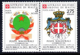 Sovereign Military Order Of Malta 1984 Postal Convention With Benin Unmounted Mint. - Malte (Ordre De)