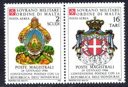 Sovereign Military Order Of Malta 1986 Postal Convention With Honduras Unmounted Mint. - Malte (Ordre De)