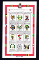 Sovereign Military Order Of Malta 1988 Postal Conventions 1986-88 Sheetlet Unmounted Mint. - Malte (Ordre De)