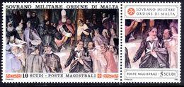 Sovereign Military Order Of Malta 1990 Ancient Uniforms Of The Order Fresco By Giacomo Cordelli Unmounted Mint. - Malte (Ordre De)