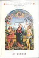 Sovereign Military Order Of Malta 1991 St John The Baptist By Viti Souvenir Sheet Unmounted Mint. - Malte (Ordre De)