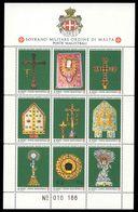 Sovereign Military Order Of Malta 1991 Relics Of The Order Souvenir Sheet Unmounted Mint. - Malte (Ordre De)