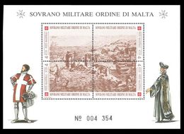 Sovereign Military Order Of Malta 1993 Fort On Rhodes Souvenir Sheet Unmounted Mint. - Malte (Ordre De)