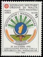 Sovereign Military Order Of Malta 1994 Postal Convention With Madagascar Unmounted Mint. - Malte (Ordre De)