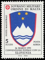 Sovereign Military Order Of Malta 1994 Postal Convention With Slovenia Unmounted Mint. - Malte (Ordre De)