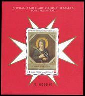 Sovereign Military Order Of Malta 1996 St Ubalsesca Taccini Souvenir Sheet Unmounted Mint. - Malte (Ordre De)
