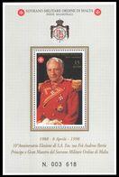 Sovereign Order Of Malta 1998 Father Andrew Bertie Souvenir Sheet Unmounted Mint. - Malte (Ordre De)