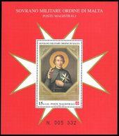 Sovereign Order Of Malta 1999 St Hugo Souvenir Sheet Unmounted Mint. - Malte (Ordre De)