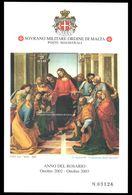 Sovereign Order Of Malta 2003 Communion Of The Apostles Souvenir Sheet Unmounted Mint. - Malte (Ordre De)