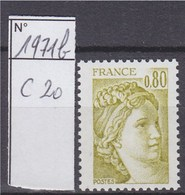 Sabine De Gandon Neuf N°1971b Sans Phosphore Signé Calves - 1977-81 Sabine Of Gandon