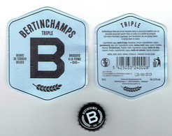 Étiquette Bière Bertinchamps Triple 50 Cl Alc 8,5 % Vol (2018) + Back + Capsule (Bières Du Terroir Belge) - Bière