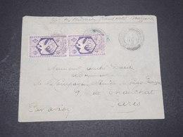 A.E.F. - Enveloppe De Brazzaville Pour La France En 1945 , Affranchissement France Libre - L 16392 - A.E.F. (1936-1958)