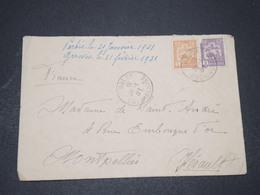 INDOCHINE - Enveloppe De Cholon Pour La France En 1931 , Affranchissement Bicolore - L 16393 - Indochina (1889-1945)
