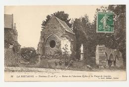35 Tinténiac, Ruines De L'ancienne église Et La Vierge De Lourdes (2313) - France