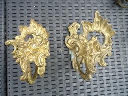 2 Ancienne Embrases  Louis XVI Gravées Au Dos - Mobili