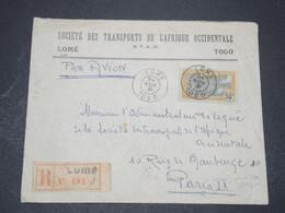 TOGO - Enveloppe Commerciale En Recommandé De Lomé Pour Paris En 1931 , Affranchissement Recto Et Verso - L 16395 - Togo (1914-1960)