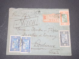 SÉNÉGAL - Enveloppe En Recommandé De Rufisque Pour Bordeaux En 1930 , Affranchissement Varié - L 16396 - Sénégal (1887-1944)