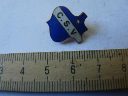 Insigne Décoration Broche Breloque Ancienne  émaillée C S V étoile Bleu Azur - Army & War