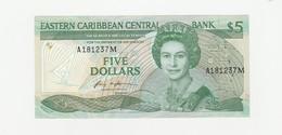 5 Dollars - Montserrat UNZ - East Carribeans