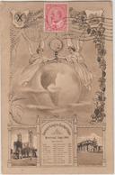 Canada CPA Congrès Eucharistique Montréal 1910 Avec Vignette Au Verso - Briefe U. Dokumente