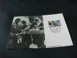 CROCE ROSSA MAXIMUM FRANCOBOLLO LIECHTENSTEIN AUSGABETAG 1985 FLUCHTLINGSHILFE 1945 - Croce Rossa
