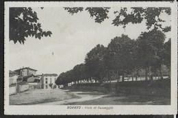 LOMBARDIA - ROVATO (BS) - VIALE DI PASSEGGIO - EDIZ. PANDINI BRESCIA - FORMATO PICCOLO ANNI '20 - VIAGGIATA 1927 - Autres Villes