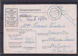 Italie - Carte Postale De 1944 - Prisonniers De Guerre - Kriegsgefangenenpost - Exp Vers Bruxelles - Avec Censure - Marcophilia