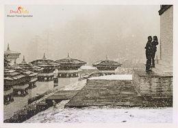 Postcard Drukair Bhutan Dochula Pass Winter Snow - Bhoutan