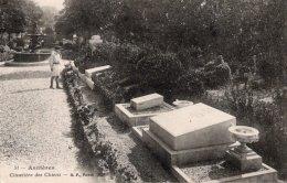 CPA  92   ASNIERES---CIMETIERE DES CHIENS---1919 - Asnieres Sur Seine