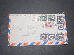 ALGÉRIE - Enveloppe De Blida Pour Djelfa En 1947 , Affranchissement Varié - L 16415 - Algérie (1924-1962)