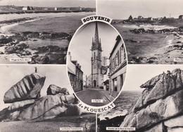 CPSM 10X15 . Multivues . Souvenir De PLOUESCAT (29) L'Eglise, Port-Guen, Port-Meur, Baie Du Kernic - Plouescat