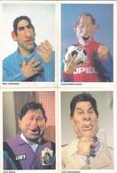 LOT DE 4 CP CANAL + LES GUIGNOLS DE L'INFO PAPIN CANTONA FERNANDEZ GUY ROUX  ACHAT IMMEDIAT - Sportsmen