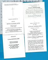 Bp    Mondelaers   3 Stuks - Images Religieuses